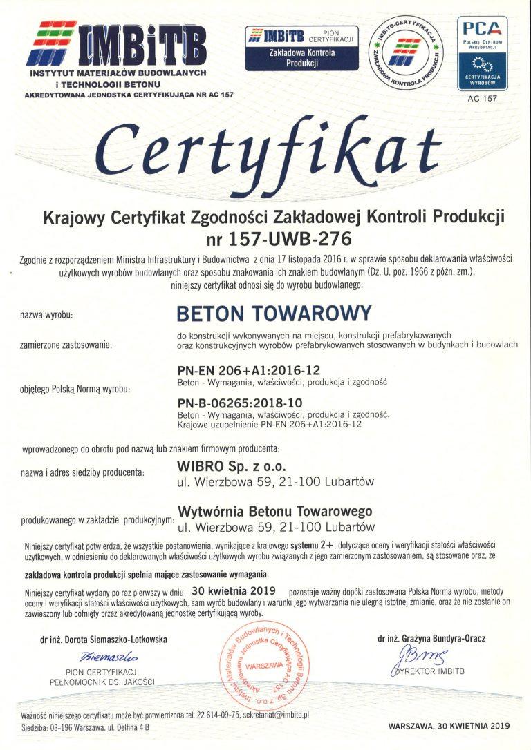 Certyfikat-157-UWB-276-B-Wierzbowa-wyd-1-2019-kwiecień