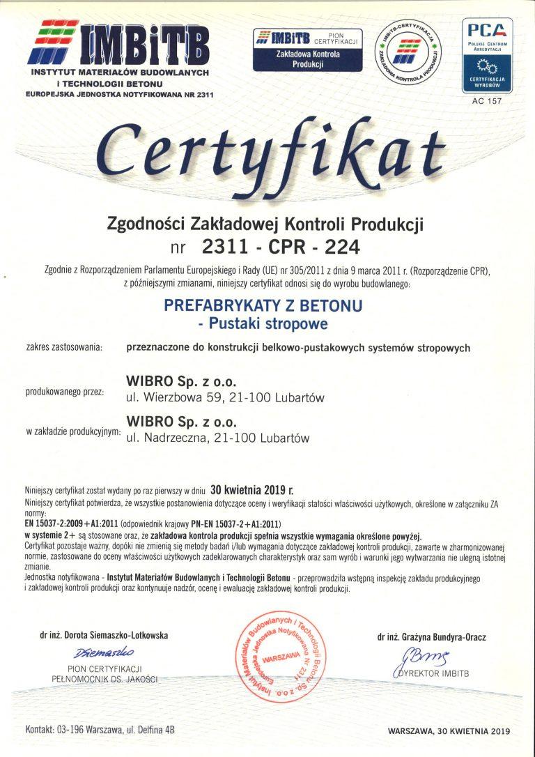 Certyfikat-2311-CPR-224-wyd-1-2019-kwiecień-pustaki